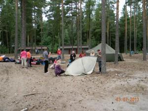 Hei, onko tää teltta nyt oikein päin?