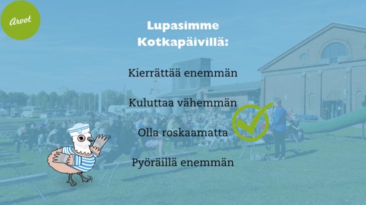 Nuorten Kotkien lupauksia Kotkapäiviltä.