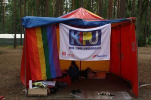 KIPU- teltta KAMU- leirillä.